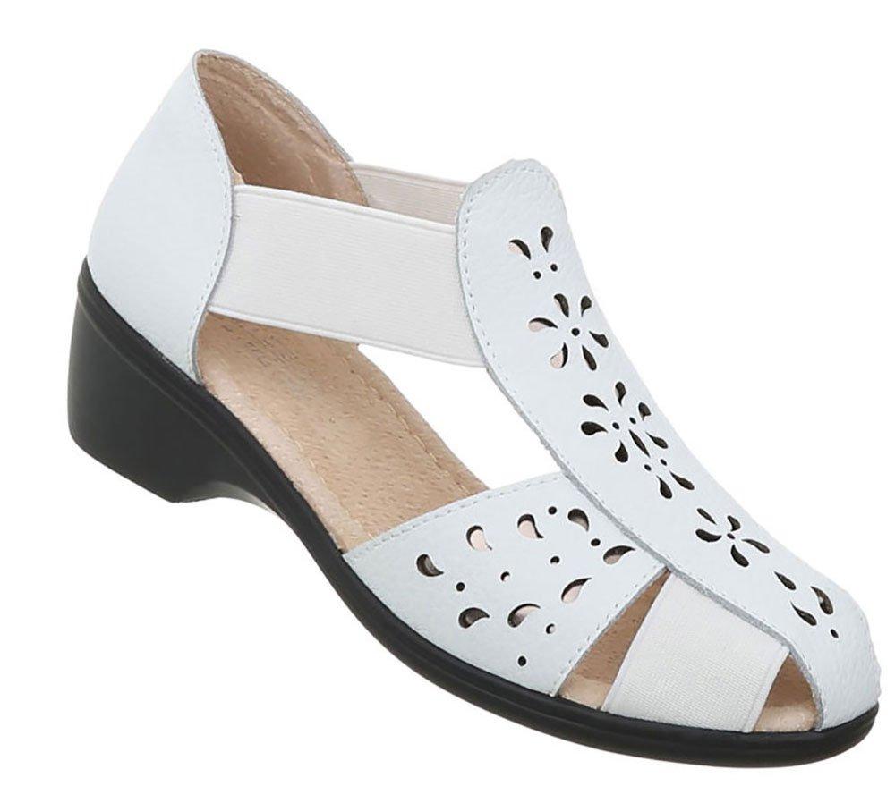 Damen Schuhe Sandalen Leder Pumps38 EU|Wei?