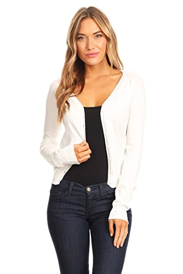 57944630 Woman's V-Neck Button Down Cardigan at Amazon Women's Clothing store:
