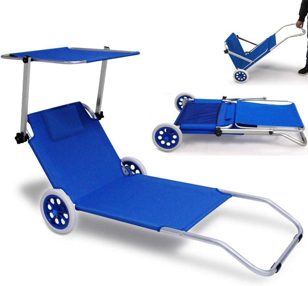 de soleil beige En aluminium/- Chaise longue de jardin Chaise longue pliable/Kreta de plage