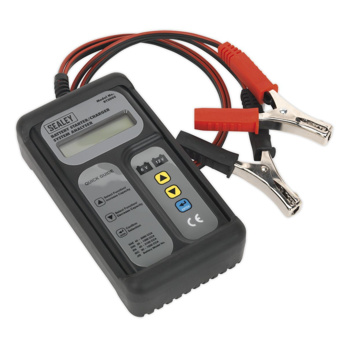 Sealey BT2002 Digital Battery & Alternator Tester 6-12V Battery 6, 12, 24V Alternator SEABT2002