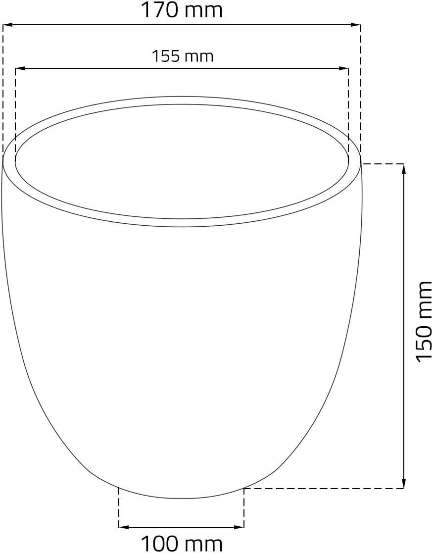 noir Cache pot en ceramique 17 cm Moon argent/é