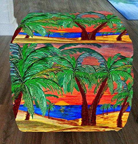Mountain-Sunset-Palms-Tropical-Beach-Coastal-Ottomans-From-My-Art