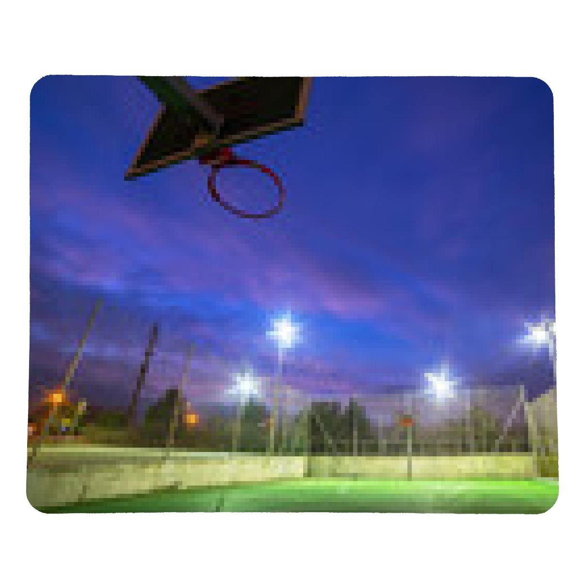 alfombrilla de ratón cancha de baloncesto iluminada en la ...
