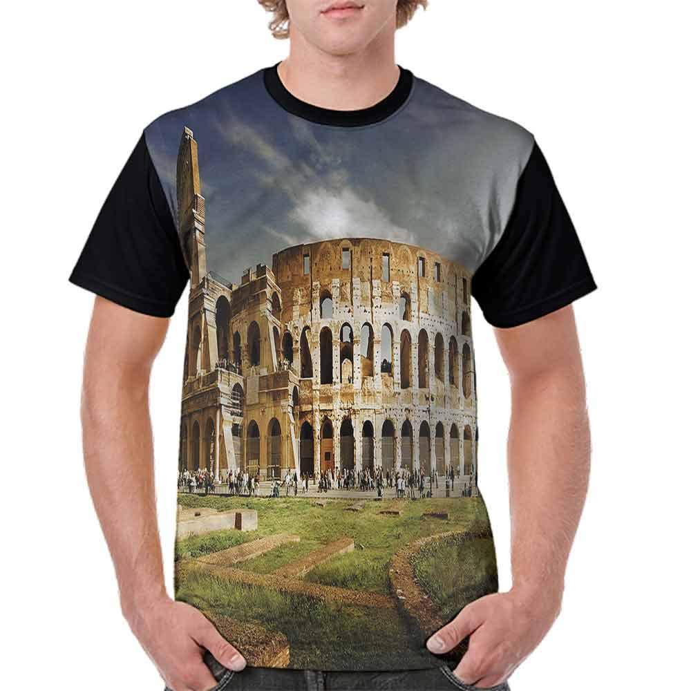 BlountDecor Cotton T-Shirt,Monument Ruins Fashion Personality Customization