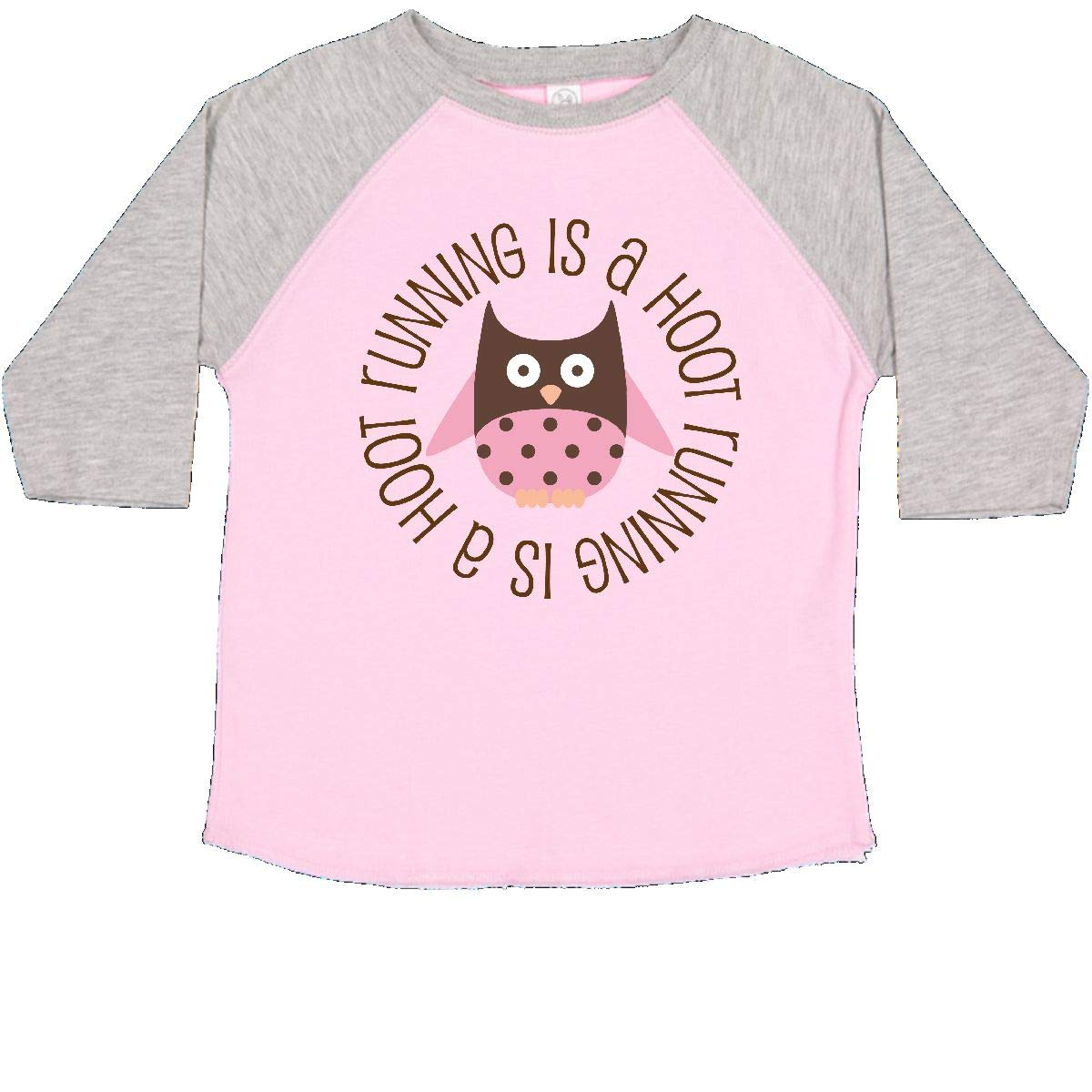 inktastic Running is a Hoot Fitness Runner Toddler T-Shirt