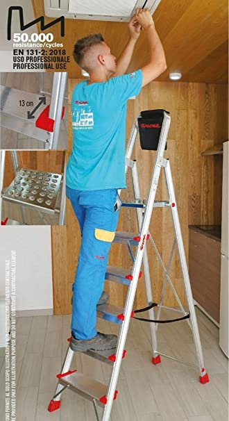 ESCALERA TIJERA 6 PELDAÑOS ELEGANCE EN946: Amazon.es: Bricolaje y herramientas