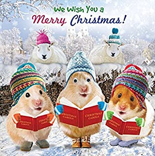 Hamster single christmas card picking up the xmas tree amazon hamster carols single xmas card 3d goggly moving eyes m4hsunfo