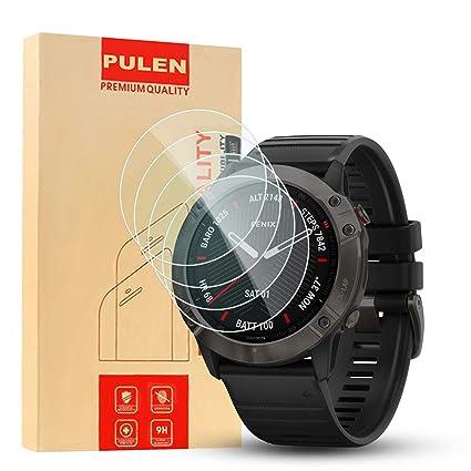 PULEN [4 Unidades Compatible con Garmin Fenix 6X Pro Protector de Pantalla Solar de 1.4