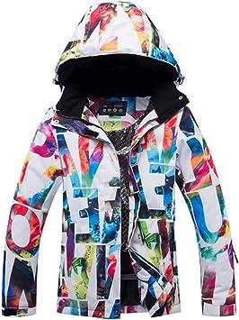 chivalrylist Chaqueta de esquí para Mujer, Traje de Nieve ...