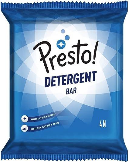 Amazon Brand - Presto! Laundry Detergent Bar - 200 g (Pack of 4)