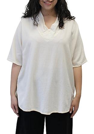 aa03bed1dd2 Women s Heather Short Sleeve Cotton Gauze Artsy Tunic Top (3 (1X 2X ...