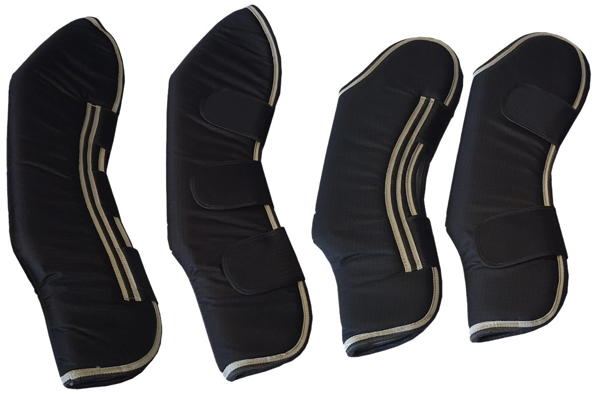 Vet Therapy 107911 Therapeutic Fir Fleece Lined Horse Travel Boots 600d With Foam Padding (Set of 4), Large by Vet Therapy