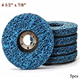 CynKen 5pcs 110mm Polycarbide Abrasive Stripping Disc Wheel Rust And Paint Removal Abrasive Disc