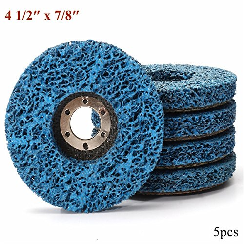 CynKen 5pcs 110mm Polycarbide Abrasive Stripping Disc Wheel Rust And Paint Removal Abrasive Disc by CynKen