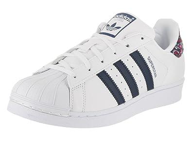 adidas Women\u0027s Superstar W Originals White Leather Casual Shoe 8.5