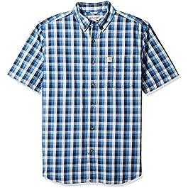 Men's Big and Tall Essential Plaid Button Down Collar Shirt