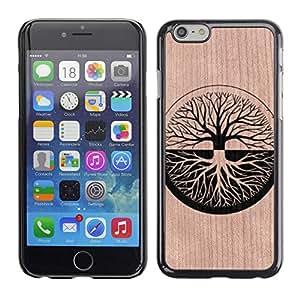 - / Zen Deep Duality Tree Life Meaning - - Funda Delgada Cubierta Case Cover de Madera / FOR Apple iPhone 6 6S Plus 5.5 / Jordan Colourful Shop/