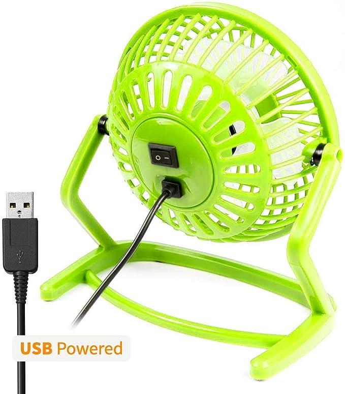 Orzly Ventilador de Escritorio USB - (Mini Retro Ventilador de ...