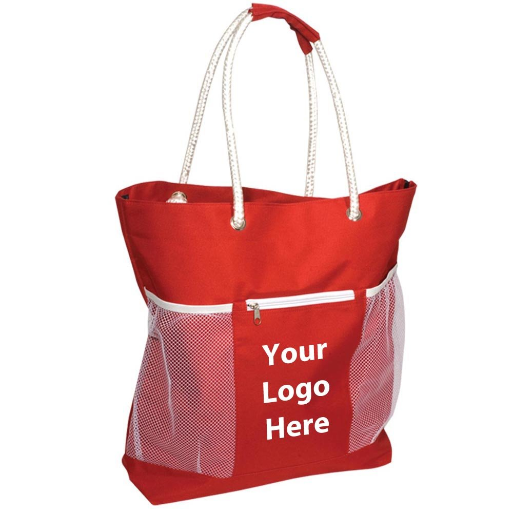 Seaside Tote - 20 Quantity - $12.25 Each - PROMOTIONAL PRODUCT / BULK / BRANDED with YOUR LOGO / CUSTOMIZED