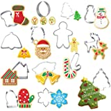 Stainless Steel Christmas Cookie Cutters,Gingerbread House Cookie Cutters,Man Christmas Tree Fondant Mold,Baking Cake Mold,Biscuit Fondant Cutter