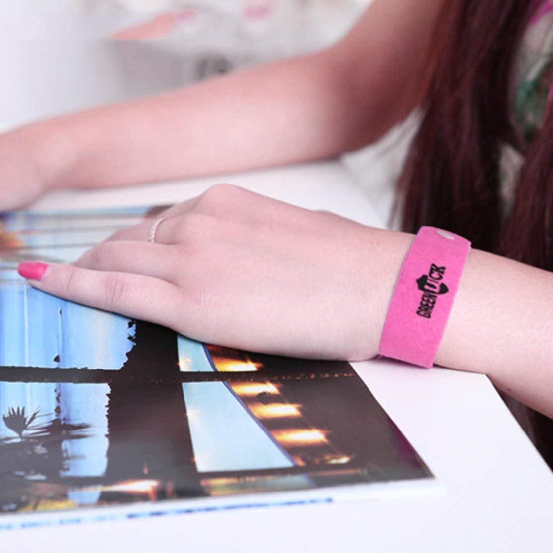 LouiseEvel215 Bracelet Anti-Moustique Non Toxique Portable Bande Anti-Moustique b/éb/é Enfant Bracelet Anti-Moustique pi/ège pour ext/érieur