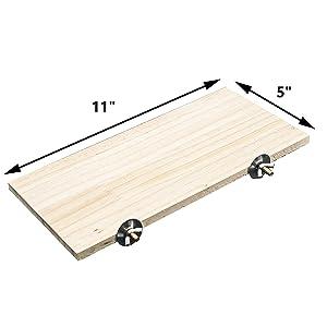 GNB PET Natural Wood Stand Platform 5''x11'' for Hamster Mice Chinchilla Chipmunk, Small Animals Habitat Toy HM-10