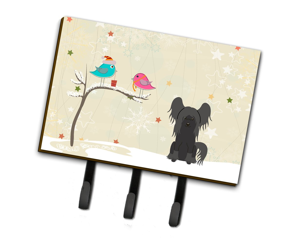 Carolines Treasures Between Friends Chinese Crested Black Leash or Key Holder BB2584TH68 Triple Multicolor