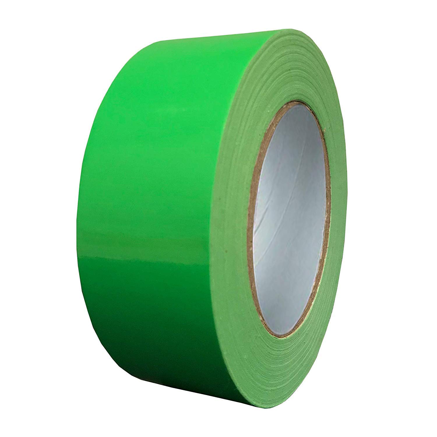 Exa Duct Tape 1.88 Inches x 60 Yards, Duct Tape for Crafts, Extra Strength, No Residue, DIY, Repairs, Indoor Outdoor Use, Book Repair, Must Have Garage Tool (1.88 X 60 Yards, Hi Vis Green)