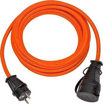 Brennenstuhl Bremaxx Verlängerungskabel 5m Kabel In Orange Für Den Einsatz Im Außenbereich Ip44 Stromkabel Einsetzbar Bis 35 C Öl Und Uv Beständig Baumarkt