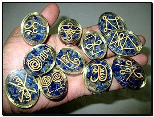 New Lapis Lazuli Karuna Orgone Oval Set Gemstone Healing ...