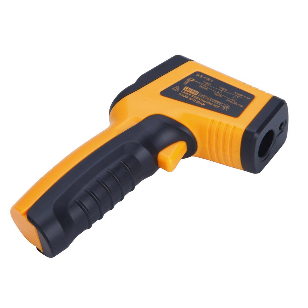 UEETEK Thermom/ètre num/érique /à infrarouge infrarouge sans contact professionnel /à point laser avec batterie