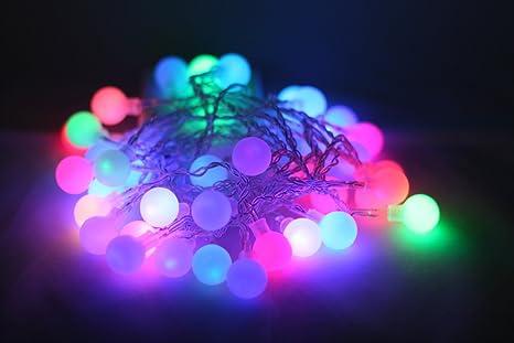 qbis guirlande lumineuse led avec 40 petites boules sur cable transparent indoor lumires de nol - Guirlande Boules Colores