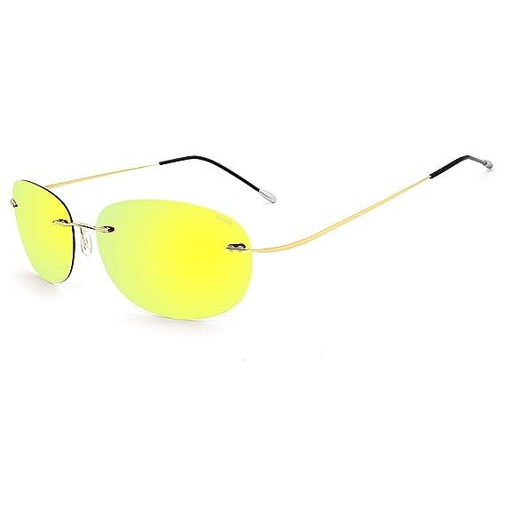 RONSOU Gafas de Sol Polarizadas a La Moda Coloridas y Sin ...