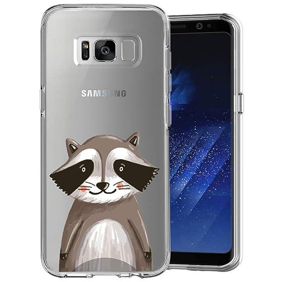 Amazon com: ChyFS Phone Case for Samsung Galaxy S8 Plus Raccoon