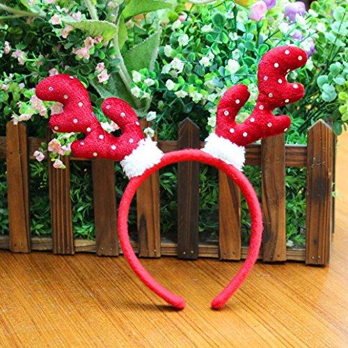 Icicle Village (Iuhan Hot Christmas Headband Santa Xmas Party Decor Double Hair Band Clasp Head Hoop (B))