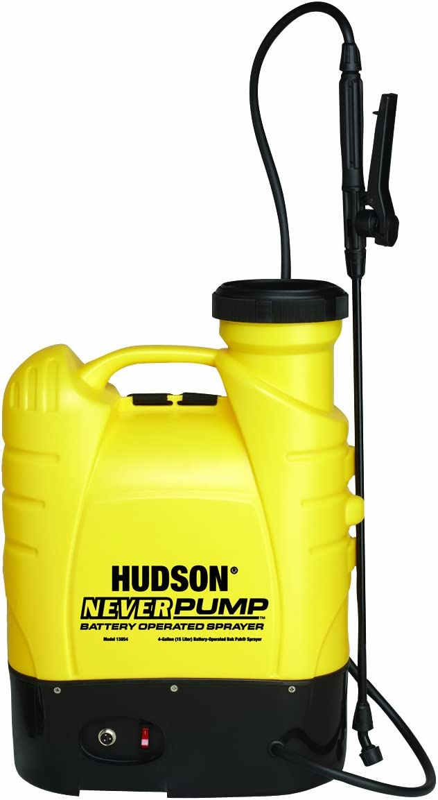 Hudson Never Pump Bak-Pak 4-Gallon Battery-Operated Sprayer