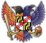 Citizen Pride Birdland Baltimore Raven and Oriole Maryland Crest 4.85x4.75 inches sticker decal die cut vinyl - Made in USA