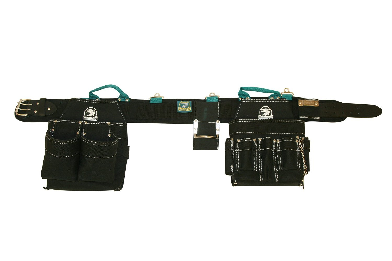Contractor Pro Professional Electrician's Complete Package Plus+ (Tool Belt, Bucket Tote, Suspenders, and Gloves) 3XL 50-55 Inch Waist for Electricians, HVAC, Carpenters, Drywallers by Contractor Pro (Image #2)