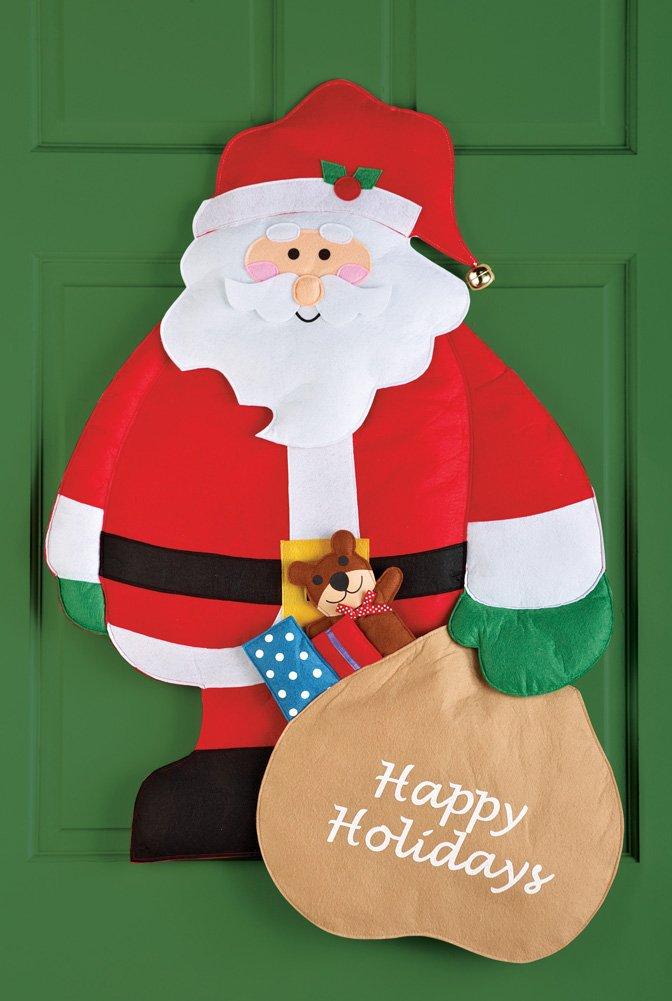 Amazon.com Happy Holidays Santa Christmas Door Decoration Home u0026 Kitchen & Amazon.com: Happy Holidays Santa Christmas Door Decoration: Home ...