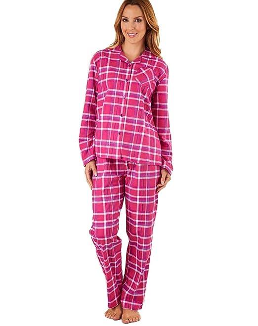 Slenderella - Pijama - para mujer Rosa Frambuesa L