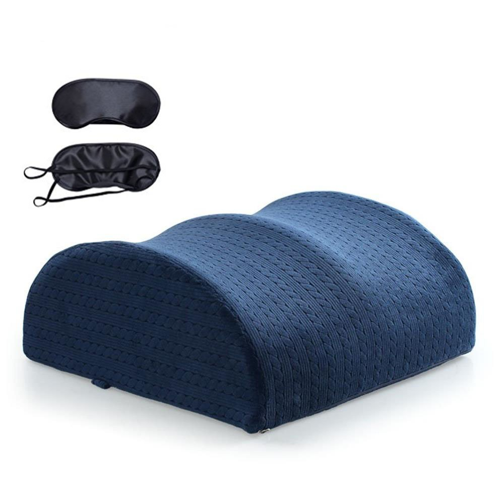 Qutool Comfort Leg Support Knee Pillow Rest Spine Reliever Backrest Back Pain Support Memory Foam Seat Cushion and Lumbar Support Back Pillow for Tailbone and Sciatica with A Free Sleep Mask