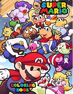 Super Mario Bros. Coloring Book: For Kid\'s Ages 4 to 9 Years Old ...