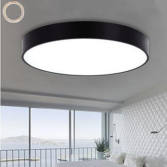 Moderne Minimalistische Schmiedeeisen Deckenleuchte Stilvolle Ultra Dünne  Runde LED Wohnzimmer Deckenlamp Drei Licht Farbe Flur