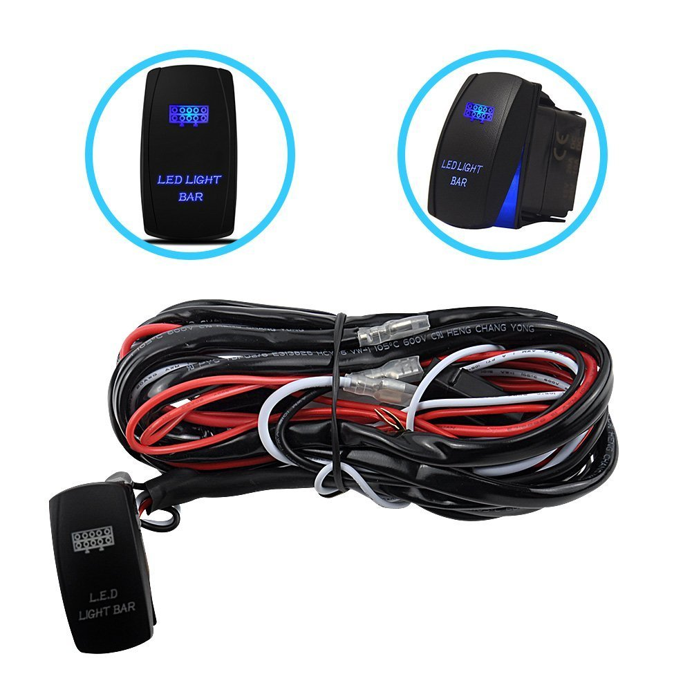 2005 2009 ford mustang 2x hid white 921 led reverse light bulb backup - Liteway One To Two Universal Led Light Bar Wiring Harness Kits 24v 40a