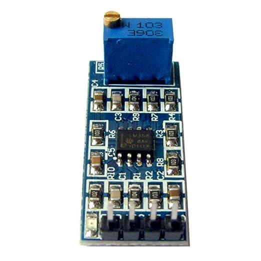 Aiming LM358 Chips de 100 Veces de Ganancia de señal Módulo de Operación del Amplificador con 10K Resistencia Ajustable Luz de Encendido: Amazon.es: Hogar