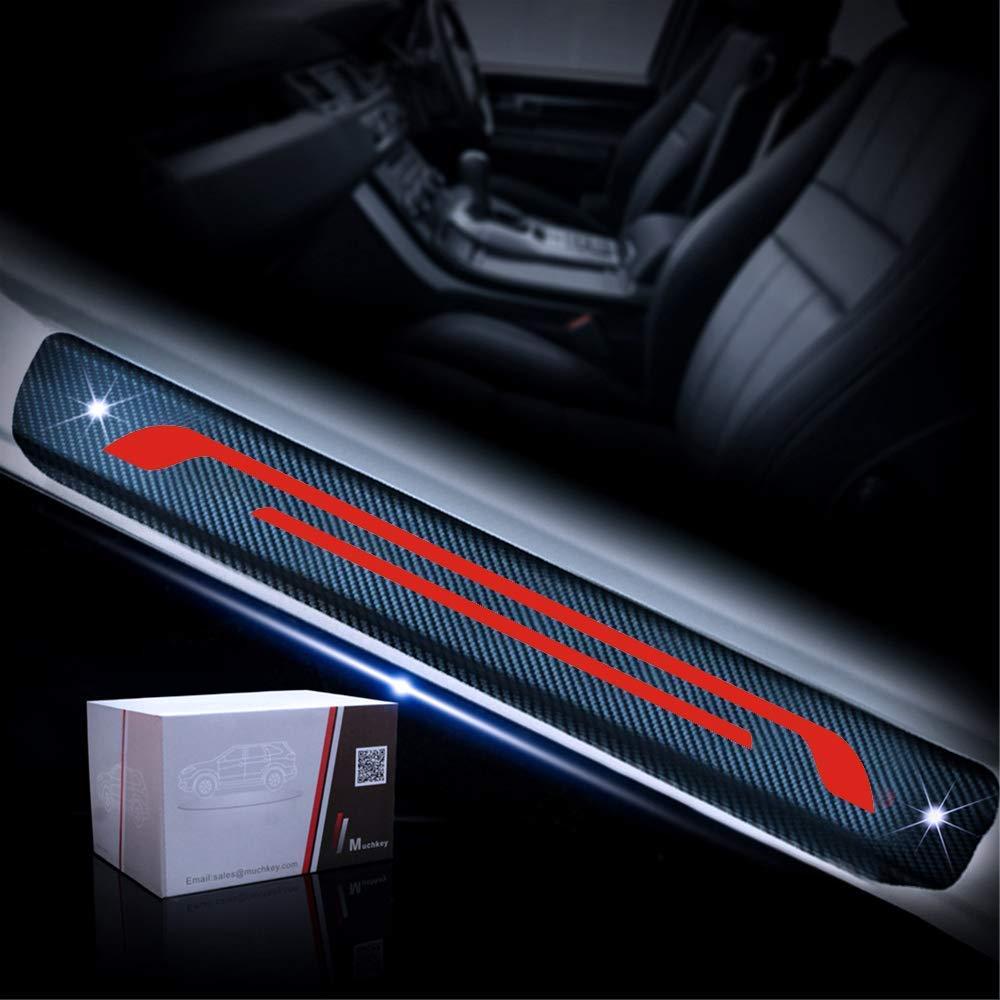M Styling Carbon Fiber Door Sill Guard Protector Scuff Plate Cover for 116i 118d 118i 120d 120i 130i E81 E82 E87 E88 4Pcs