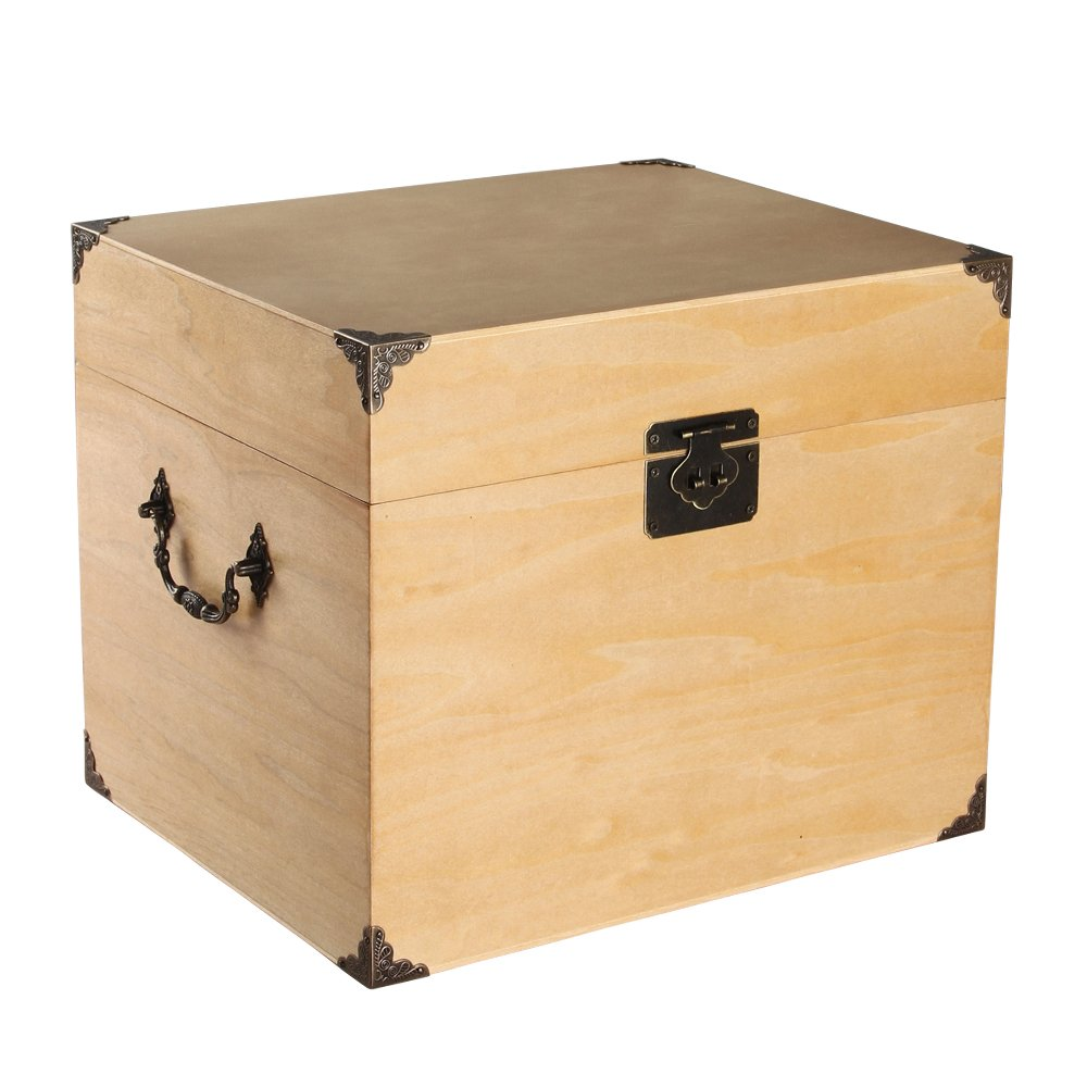 Ivy Lane Design Wedding Card Box, Solid Top, Paulownia