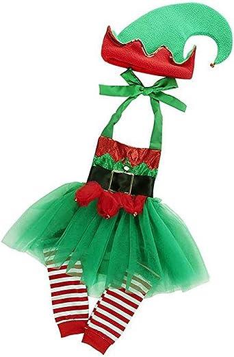Amazon.com: 3 piezas de traje de elfo para bebés y niñas ...