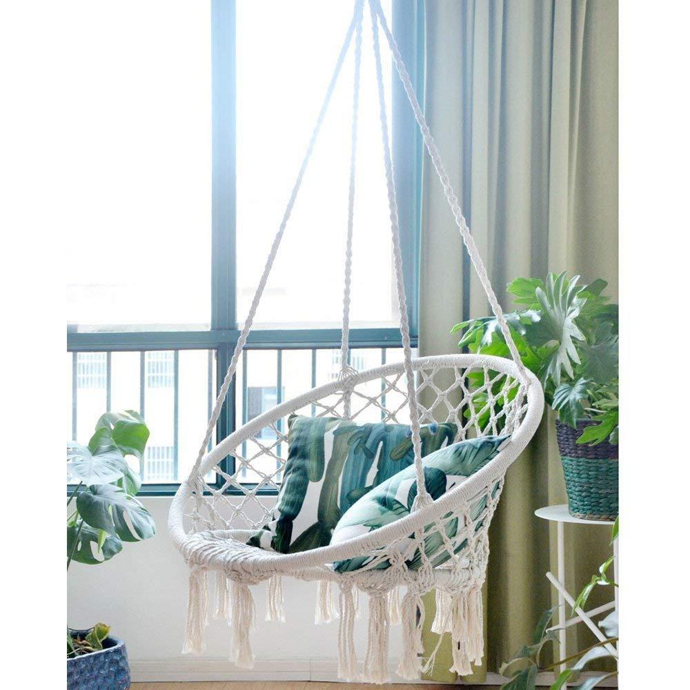 Amazon.com : Appreciis Hammock Chair Macrame Swing, 265 Pound ...
