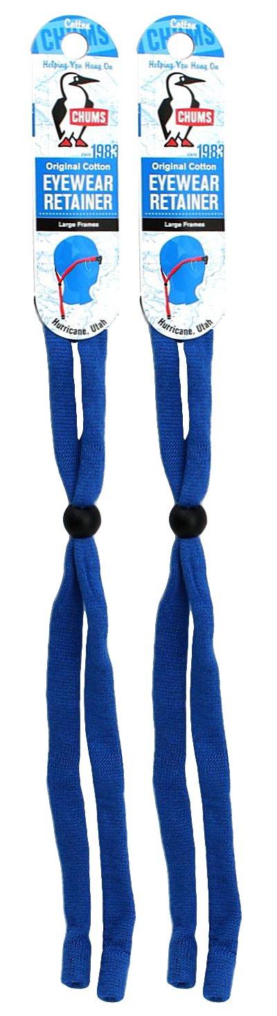 Chums Original Cotton Standard End Eyewear Retainer, Royal Blue (2 Pack)